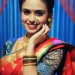 Amruta Khanvilkar in Saree Photos