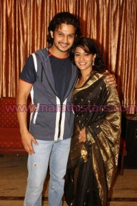Urmila Kanitkar with husband Adinath Kothare Photos
