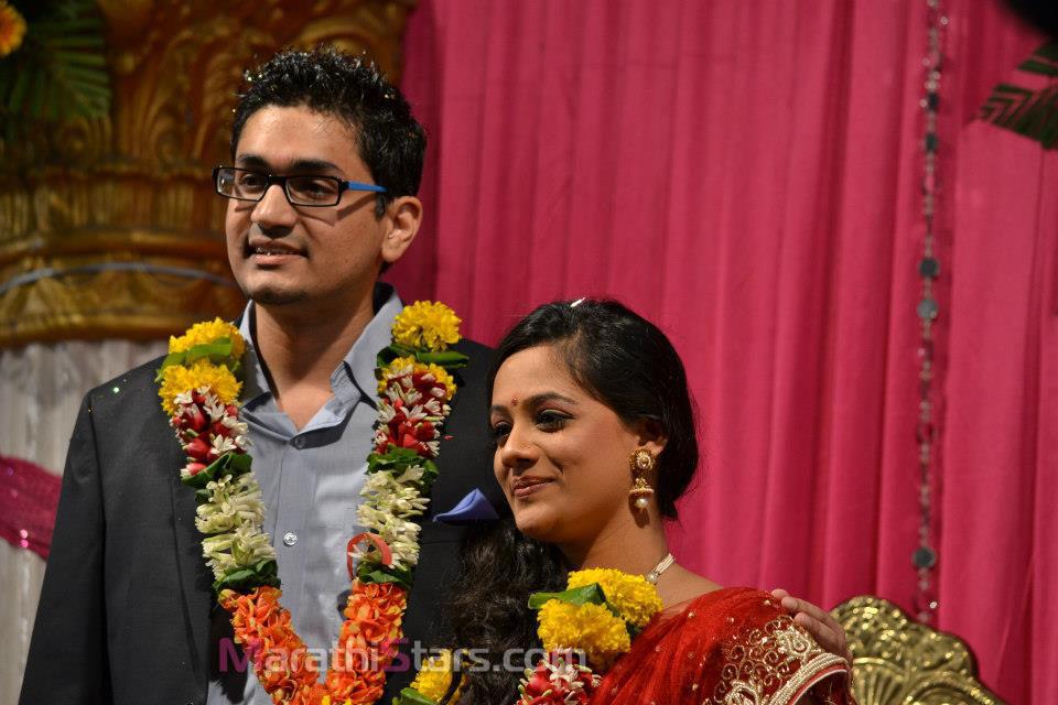 Tejashree Pradhan Real Life Engagement Photos