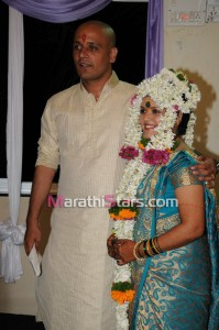 Vikram gaikwad and akshata kulkarni wedding photo