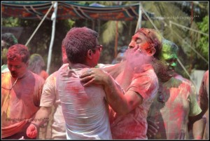 Pushkar Jog While playing holi photos