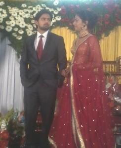 Shashank ketkar & tejashree Pradhan Reception Photos