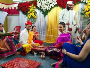 Tejashree Pradhan and Shashank Ketkar Marriage Photos